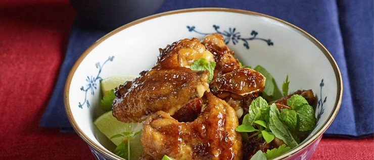 Glasierte Chicken-Wings mit Kardamomreis
