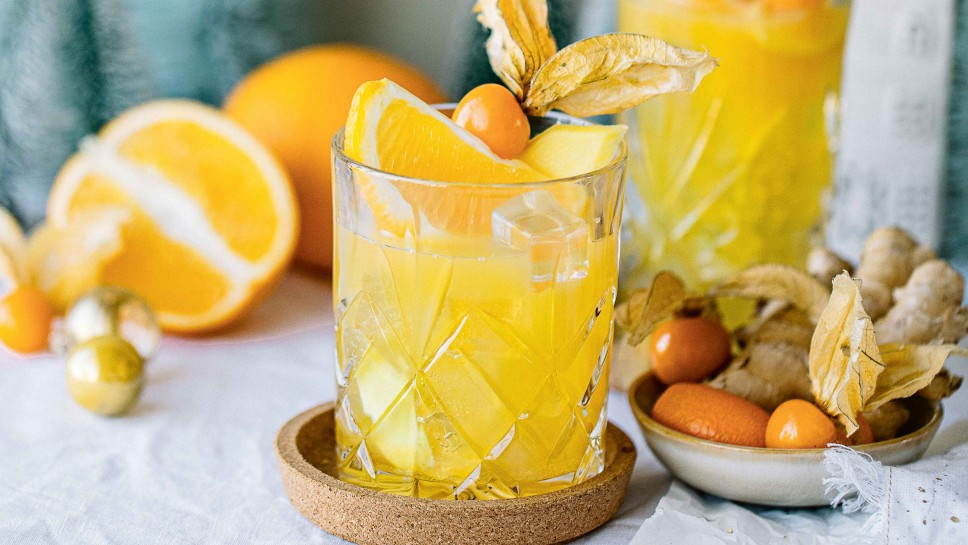 Orange-Ingwer-Fizz