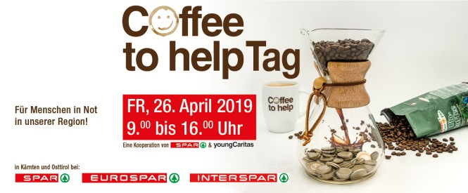 Coffee to help-Tag  am Freitag, 26.4.2019